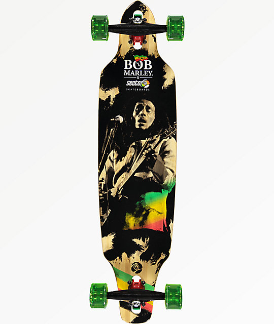 "Sector 9 x Bob Marley Jamming 38"" drop through longboard completo"
