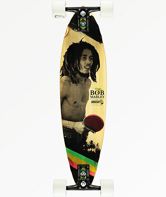 "Sector 9 x Bob Marley Small Axe 32"" pintail longboard completo"
