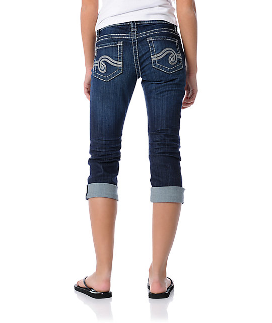 See Thru Soul Bella Cropped Jeans
