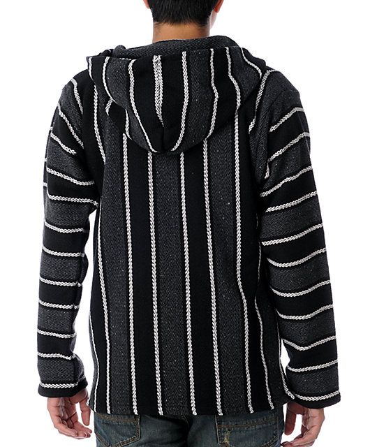 Senor Lopez Black & Grey Poncho