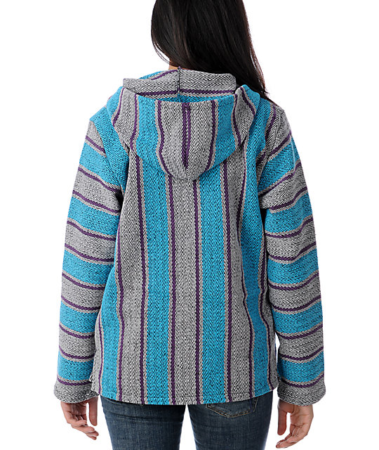 Senor Lopez Silver, Turquoise & Purple Spring Poncho