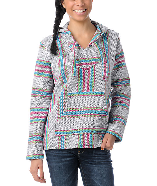 Senor Lopez Turquoise, Green & Pink Poncho