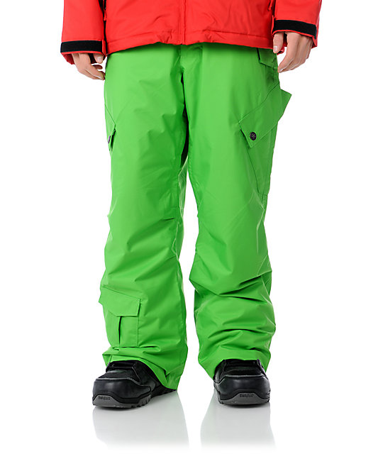 Sessions Zoom 10K Kelly Green Snowboard Pants