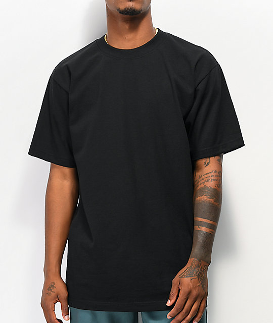 Shaka Wear Max Heavy Weight Black T-Shirt