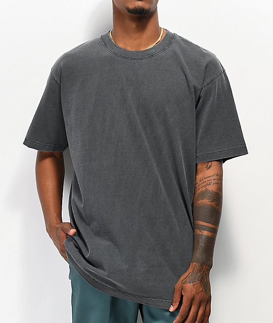 Shaka Wear Max Heavy Weight Garment Dye Black T-Shirt