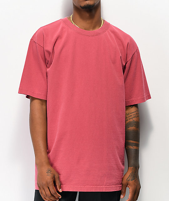 Shaka Wear Max Heavy Weight Garment Dye Red T-Shirt