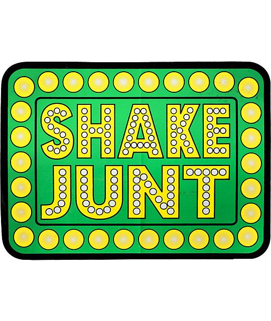 Shake junt 5 5 green sticker