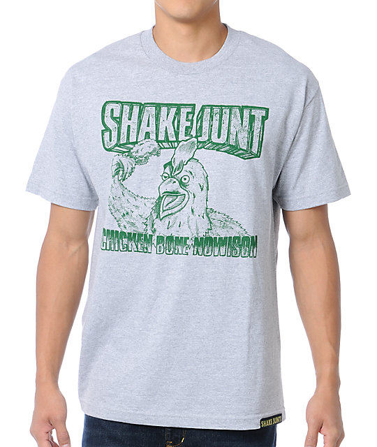 Shake Junt Super Chicken Heather Grey T-Shirt