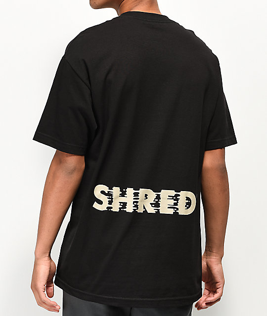 Shred Fortune Cookie Black T-Shirt