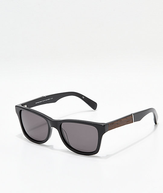 Shwood Canby Black Ebony Sunglasses