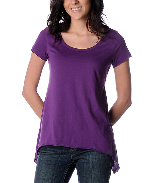 Sirens & Dolls A-Line Purple Tunic Top