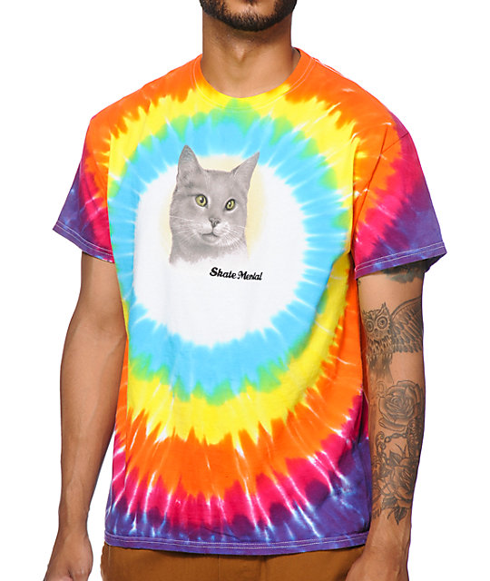 083f996a Skate Mental A Cat Tie Dye T-Shirt | Zumiez