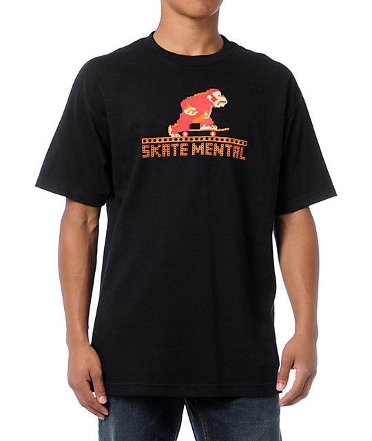 Skate Mental Monkey Black T-Shirt