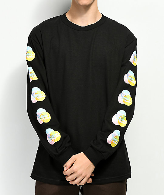 Skate Mental Push Pop 2.0 Black Long Sleeve T-Shirt