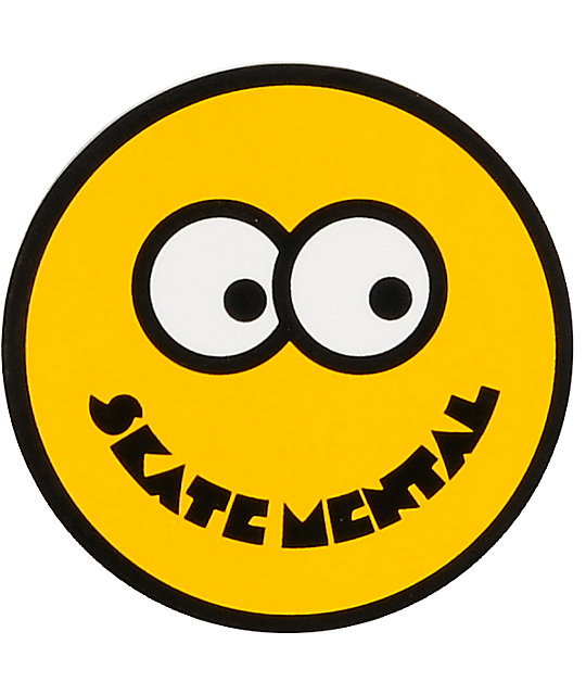 Skate Mental Smile Face Sticker