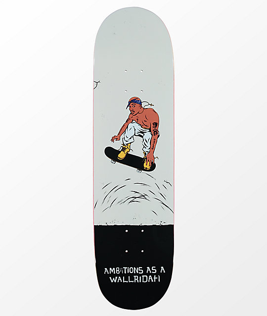 "Skate Mental Tom K Wallridah 8.5"" Skateboard Deck"