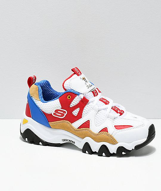 WhiteRedamp; Blue X Piece D'lites Skechers 2 ShoesZumiez One ZkiPOuX