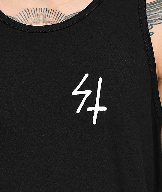 Sketchy Tank  Party's Over Black Tank Top