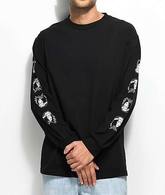 Sketchy Tank Banshee Long Sleeve Black T-Shirt
