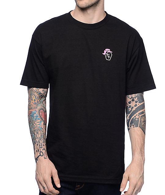 Sketchy Tank Beach Black T-Shirt