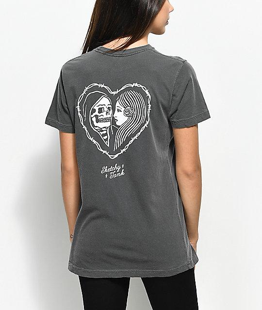 sketchy-tank-heart-grey-t-shirt by sketchy-tank
