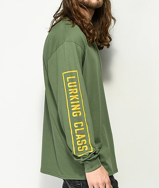 Sketchy Tank Lurking Class Army Green Long Sleeve T-Shirt