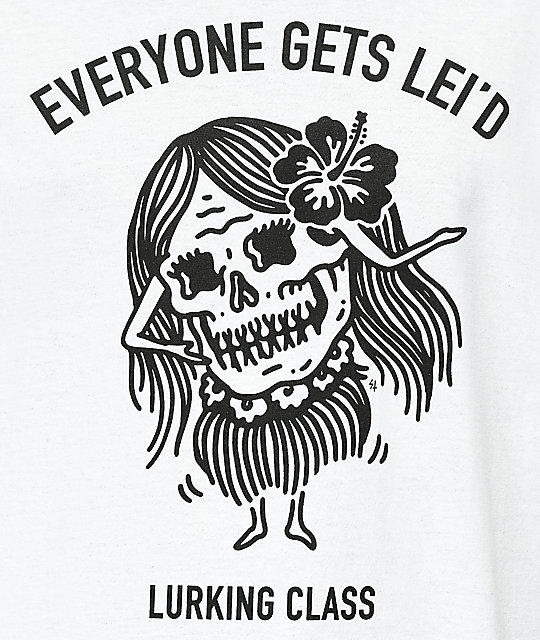 Sketchy Tank Lurking Class Lei'd White T-Shirt