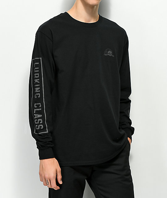 Sketchy Tank Lurking Class Reflective Black Long Sleeve T-Shirt
