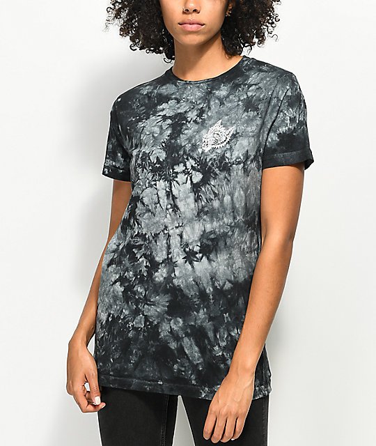 Sketchy Tank Opinions Black Tie Dye T-Shirt
