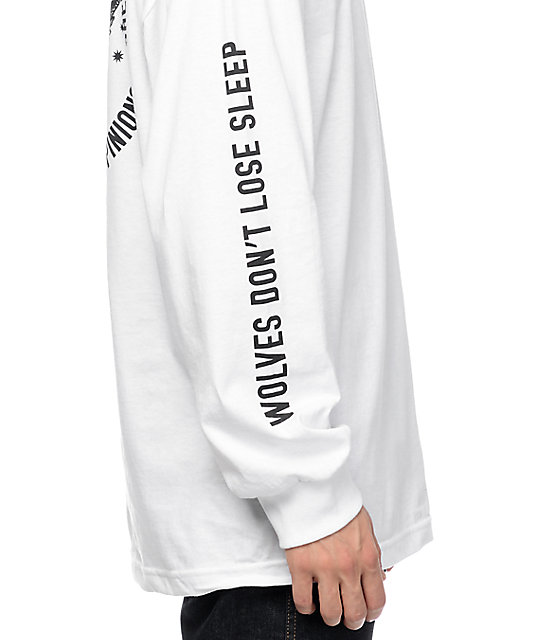 Sketchy Tank Opinions White Long Sleeve T-Shirt