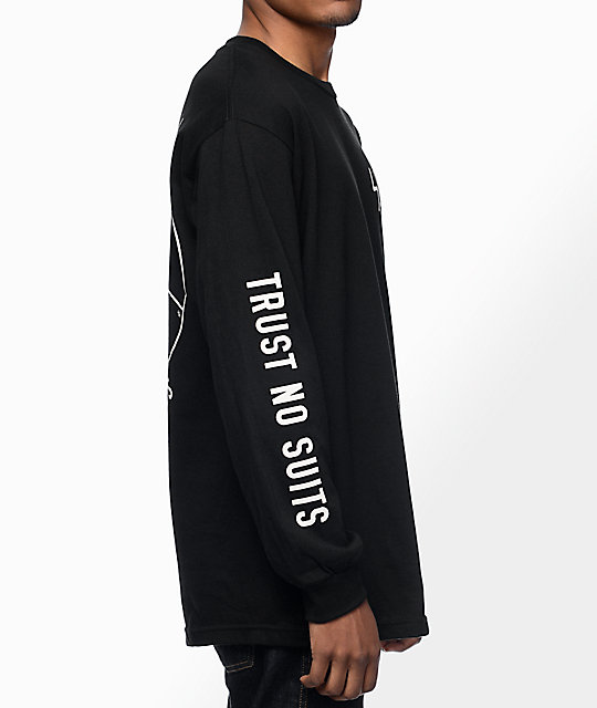 Sketchy Tank Trust Black Long Sleeve T-Shirt