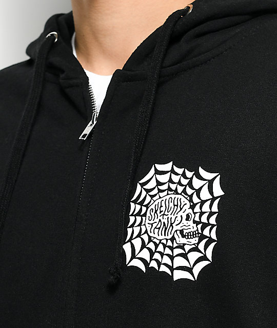 Sketchy Tank Web Black Zip Up Hoodie
