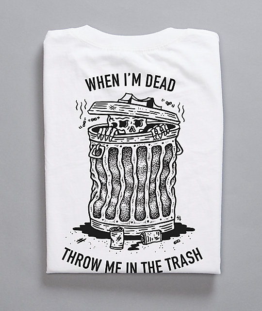 Sketchy Tank When I Die camiseta blanca