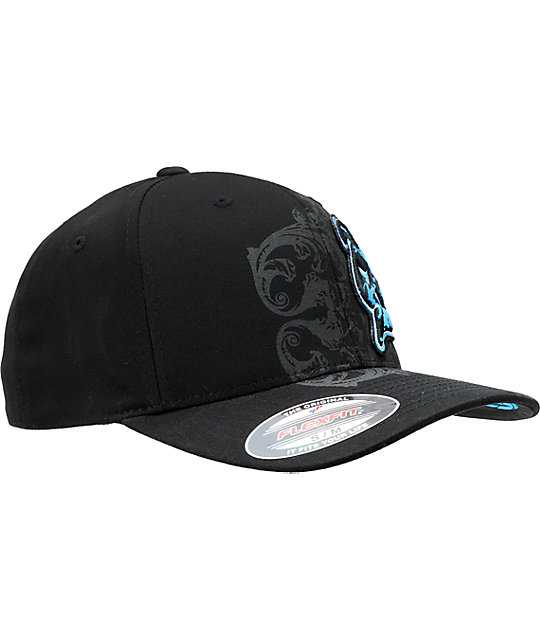 Skin Industries Flocked Black & Blue Hat