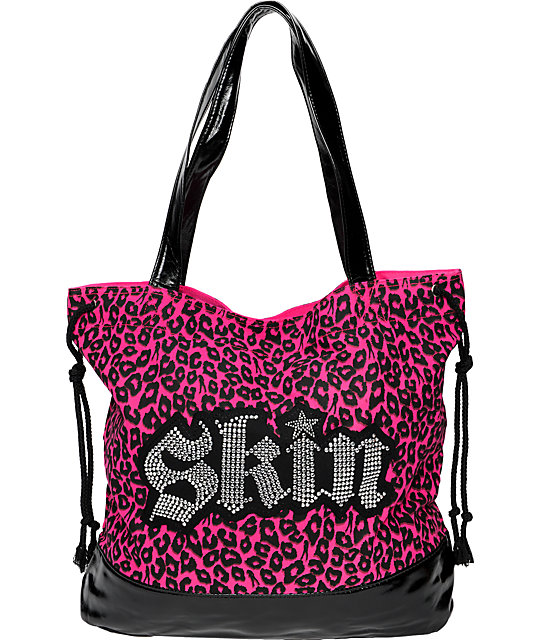 Skin Industries Studded Pink Tote