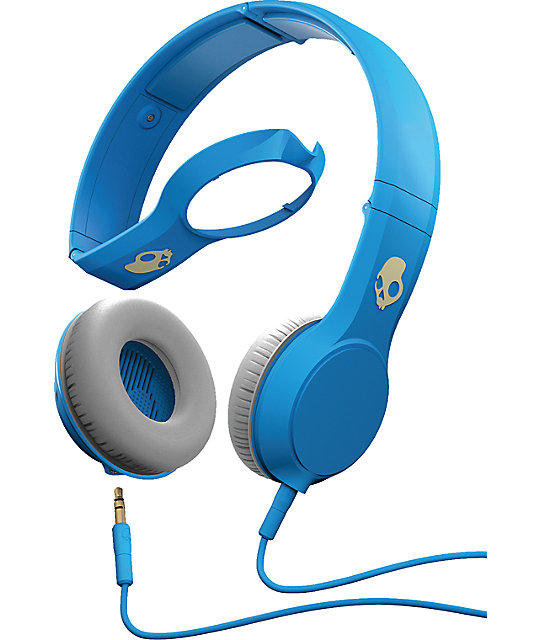 Skullcandy Athletic Blue Micd Cassette Headphones