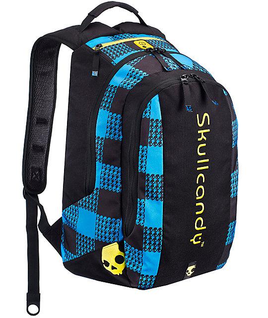 3a31c0bc47a8 Skullcandy Contender Black   Blue Backpack