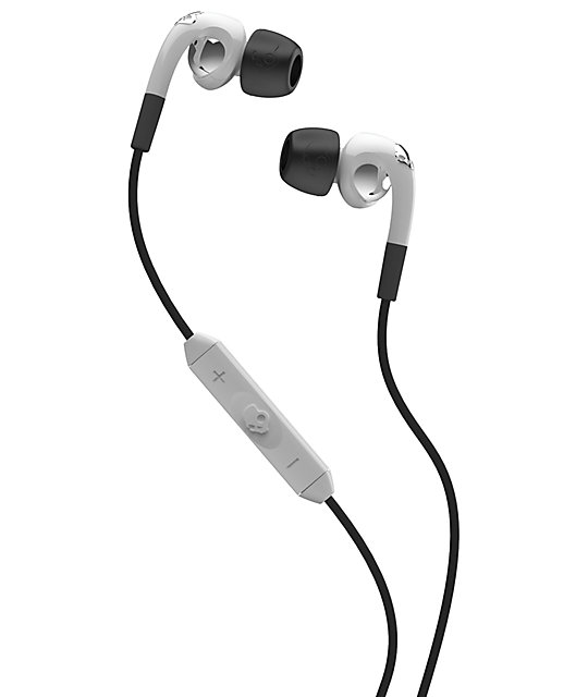 Skullcandy Fix White & Chrome Micd Earbuds