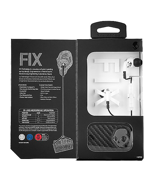 Skullcandy Fix White Micd Earbuds