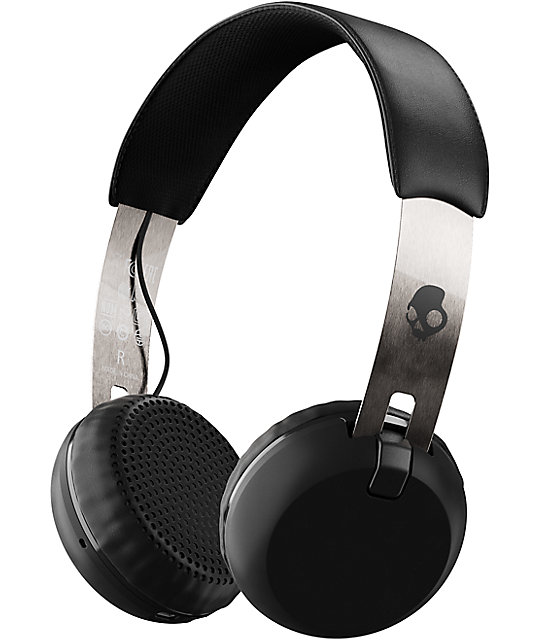 Skullcandy Grind Wireless Black, Chrome & Black Headphones