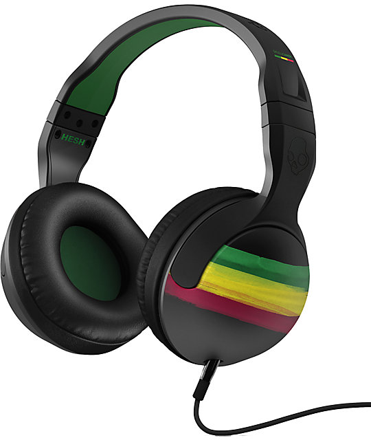 Skullcandy Hesh 2.0 Rasta Headphones