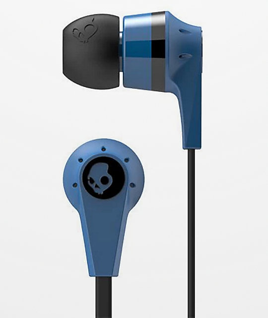 Skullcandy Ink'd  2.0 Mic'd Black & Blue Earbuds