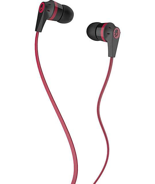 Skullcandy Inkd 2.0 Black & Red Earbuds