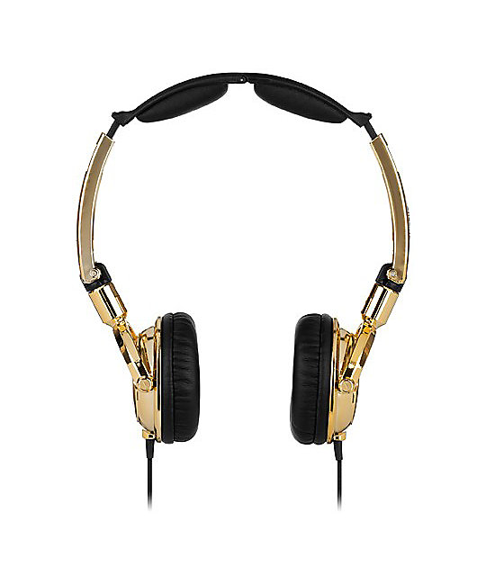 Skullcandy Lowrider Gold Headphones