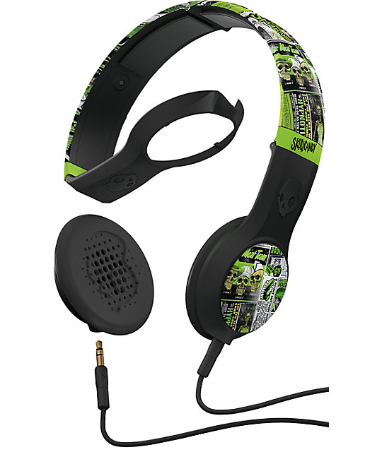 Skullcandy Lurker Green & Black Cassette Headphones