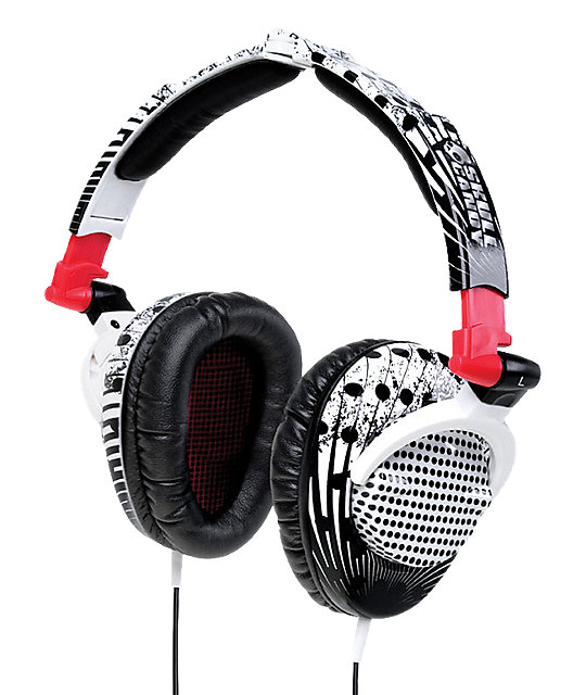 Skullcandy Skullcrushers Black & White Headphones