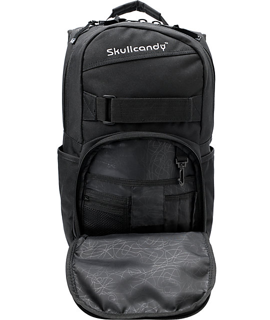 ... Skullcandy Skulldaylong2 Black Skate Backpack ... 2926ba2a7aed8