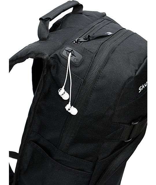 Skullcandy Skulldaylong2 Black Skate Skate Backpack  293e763674b3d