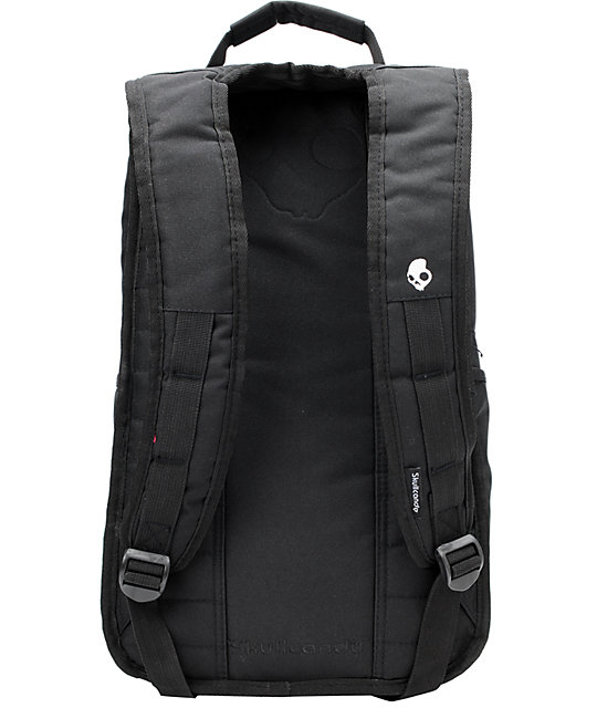 Skullcandy Skulldaylong2 Black Skate Backpack  Skullcandy Skulldaylong2  Black Skate Backpack ... f5320db200feb