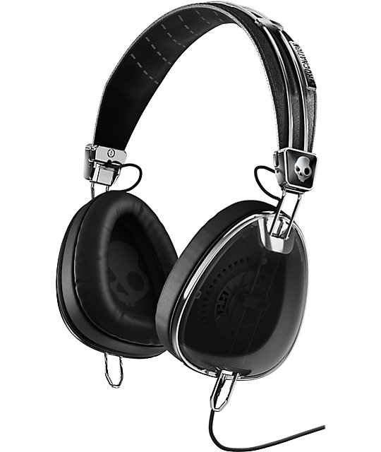 Skullcandy x Roc Nation Aviator Micd Black Headphones